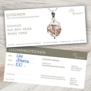 """Gutschein """"Tierhaarschmuck"""""""