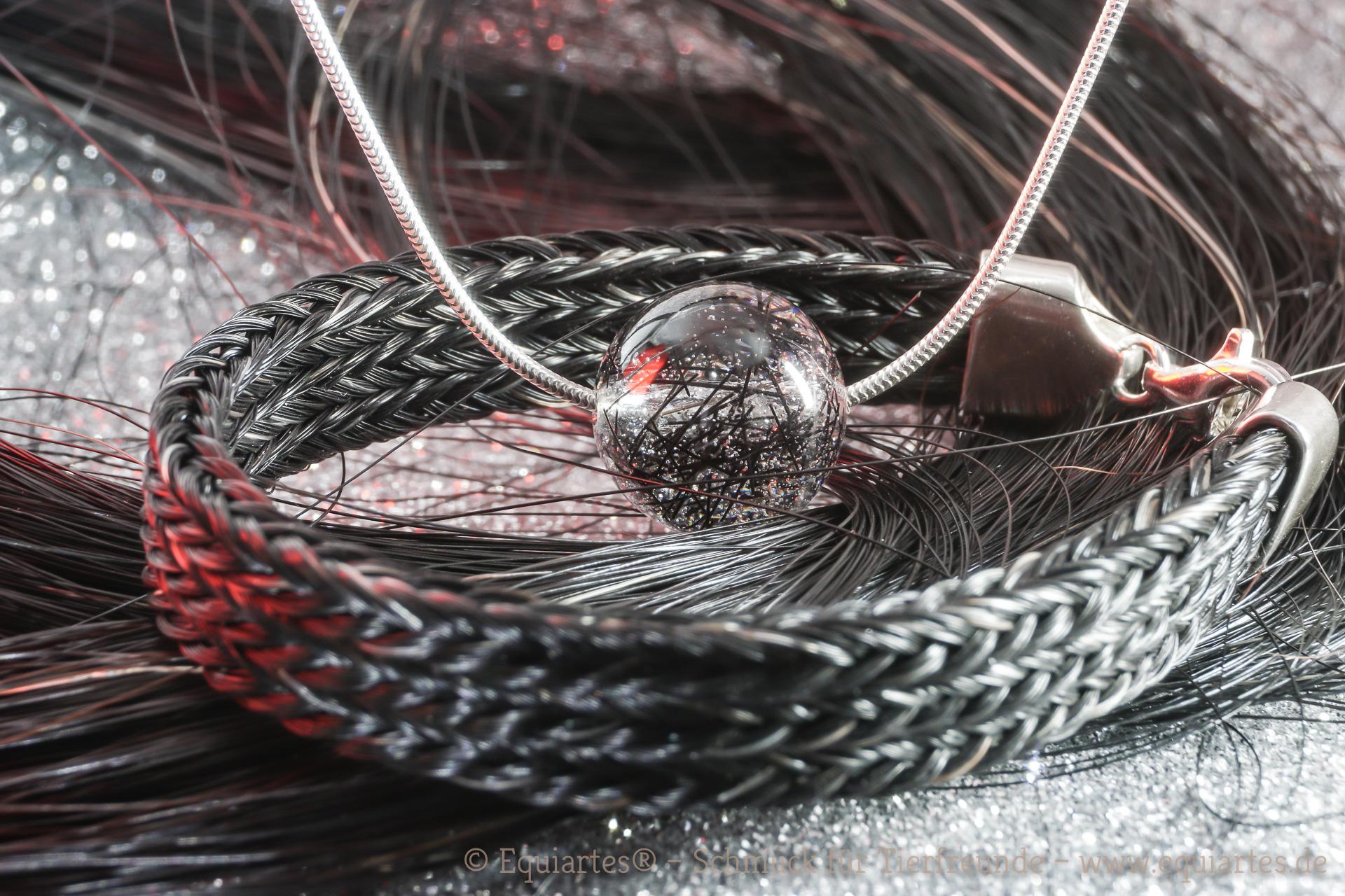 Tierhaarschmuck und Pferdehaararmband
