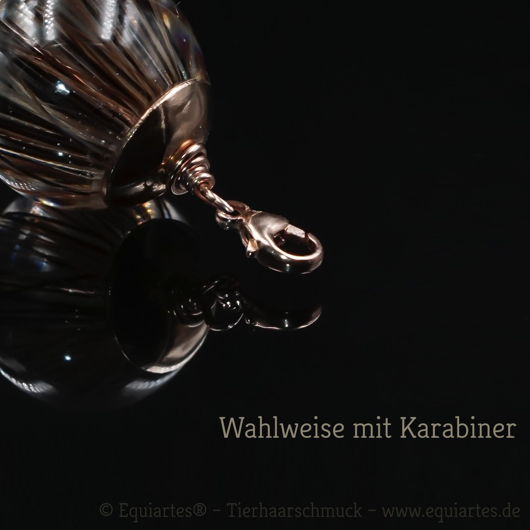Tierhaarschmuck Kugel-Anhänger Andromeda - Roségold