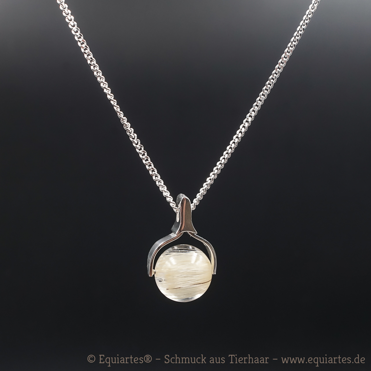 Tierhaarschmuck - Halskette Taurus - Sterlingsilber