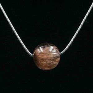 Tierhaarschmuck - Schlangenkette - Halskette Serpens I - Sterlingsilber