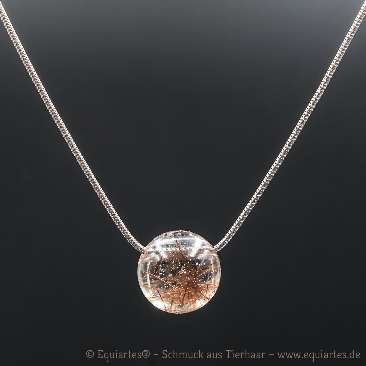 Tierhaarschmuck - Schlangenkette - Halskette Serpens II - Sterlingsilber