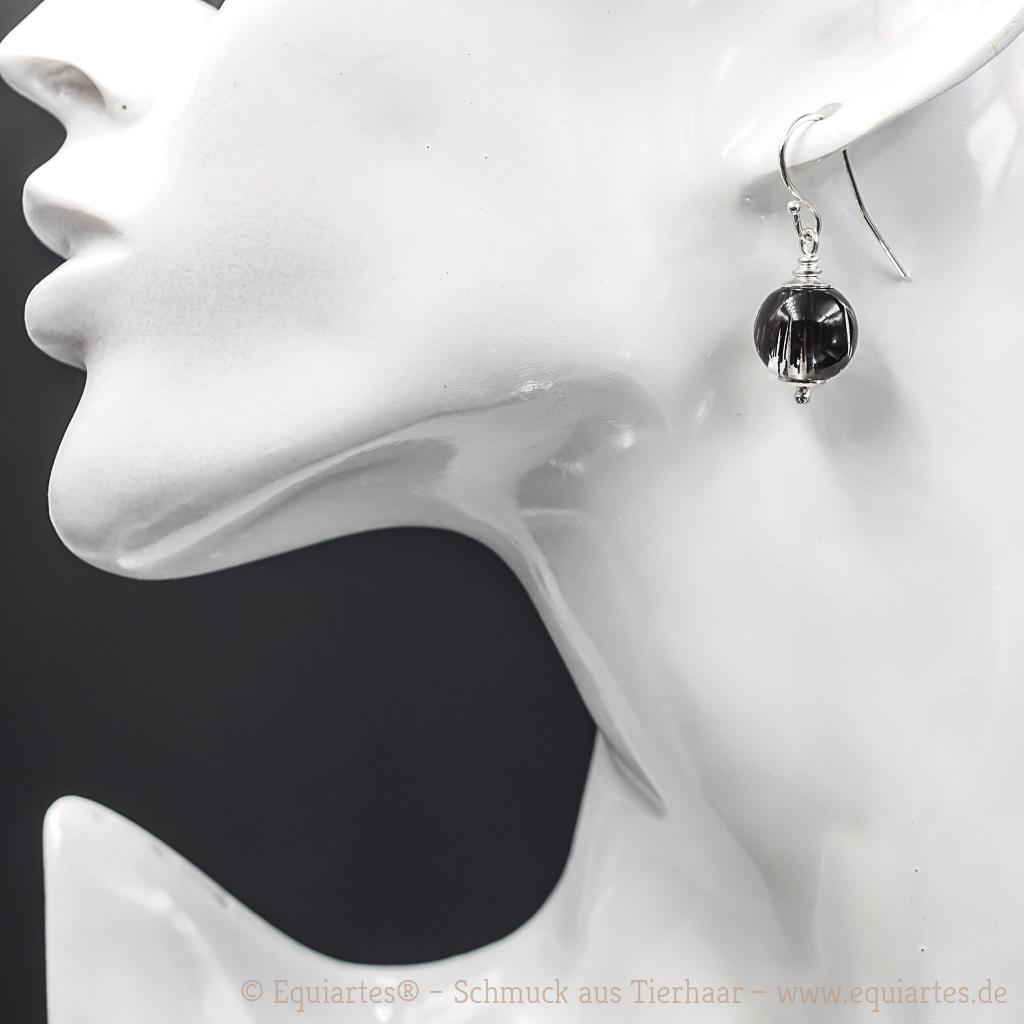 Tierhaarschmuck-Ohrschmuck - Ohrhänger Gemini II