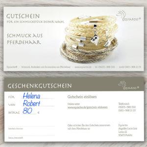 """Gutschein """"Motiv 7: Kollektion Einhorn"""""""