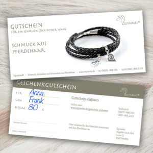 """Gutschein """"Wickelarmband mit Herz"""""""