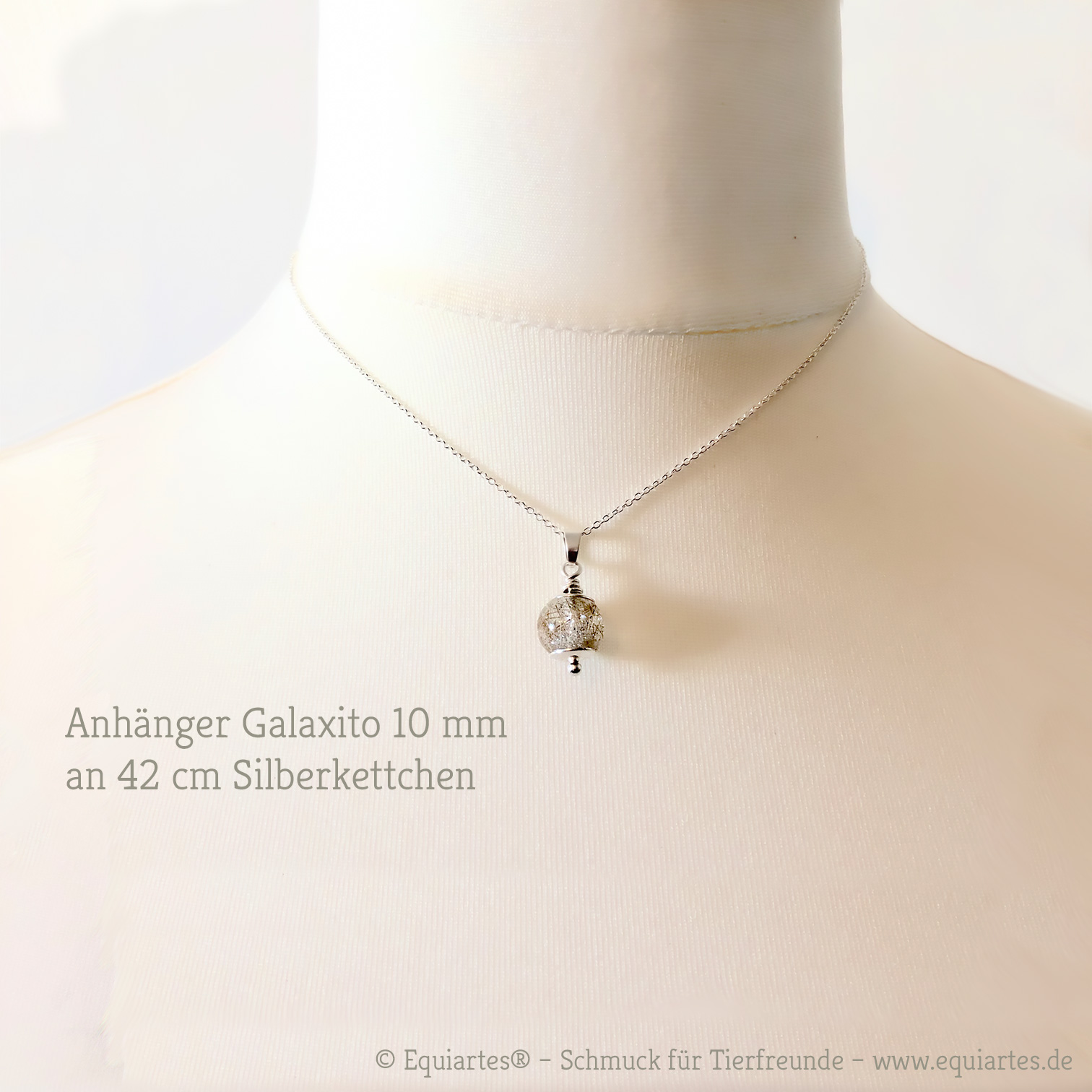 Galaxito – Kleiner Anhänger mit Tierhaar - Sterlingsilber