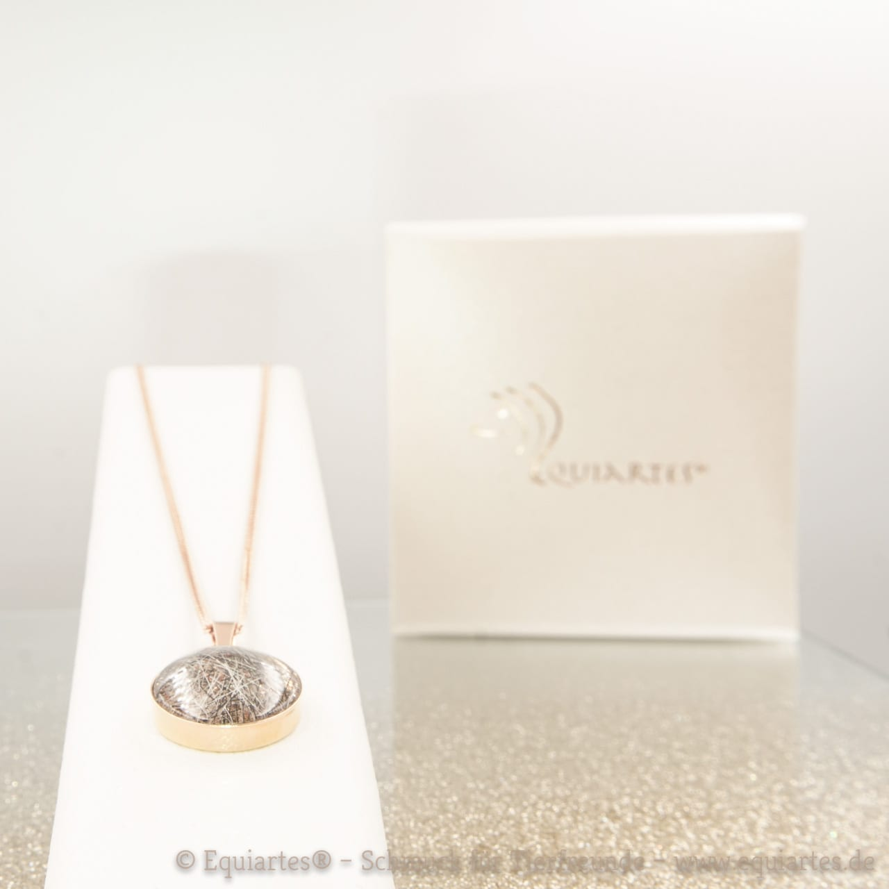Persönlicher Memory-Schmuck: Medaillon mit Cabochon 925 Silber rosé